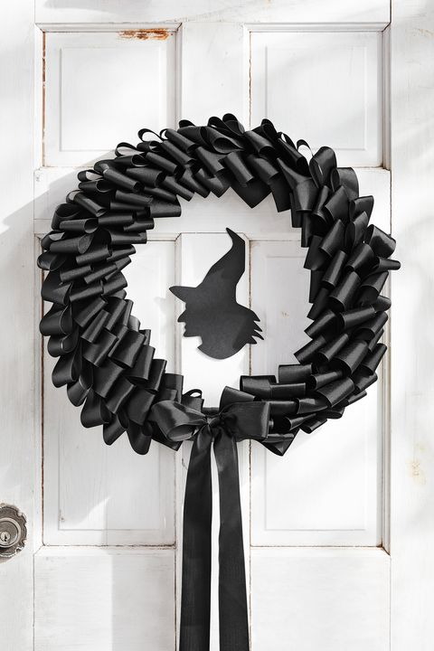 halloween door decorations bow wreath