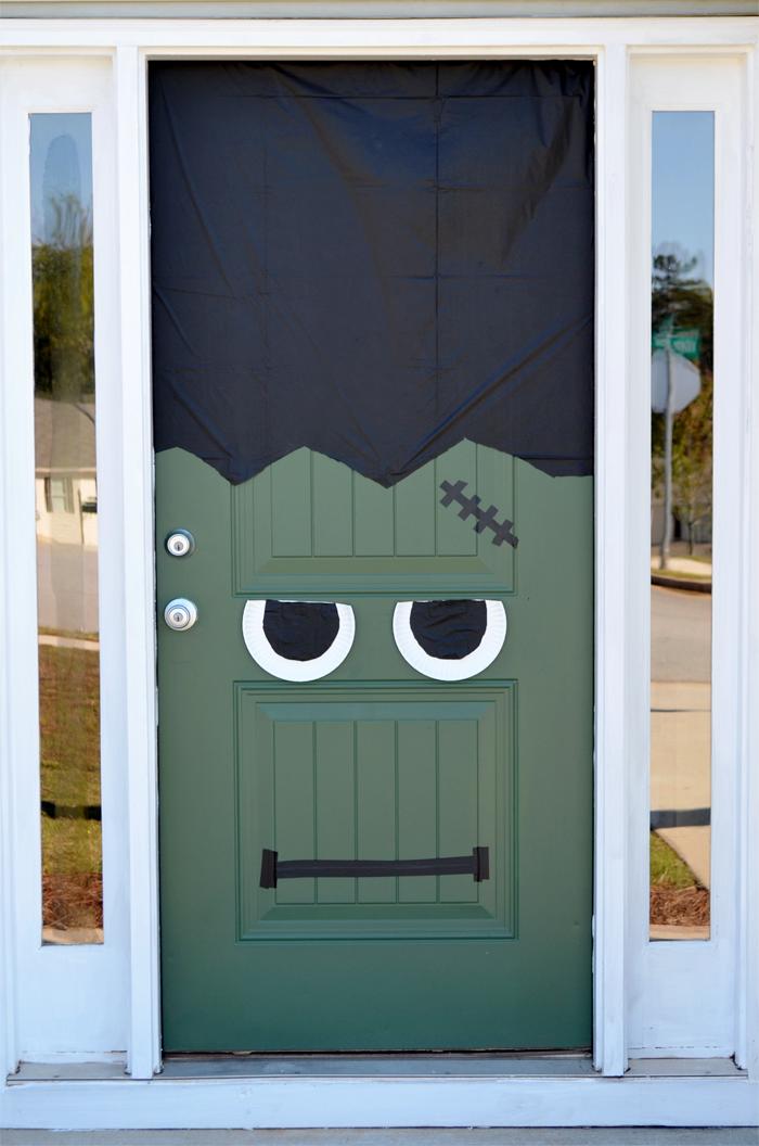Delicieux Halloween Door Decorations Frankenstein Front Door