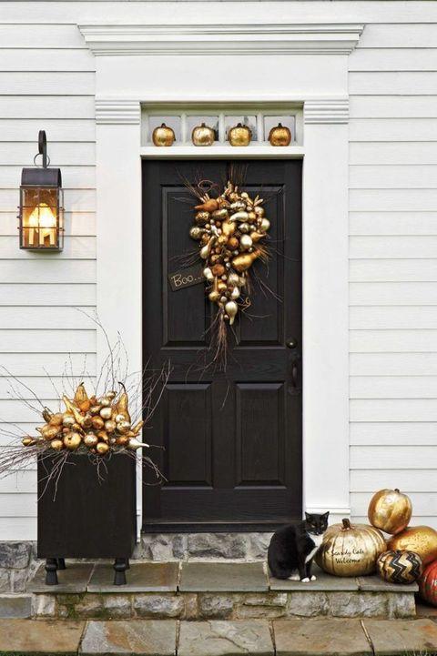 gilded halloween door decorations