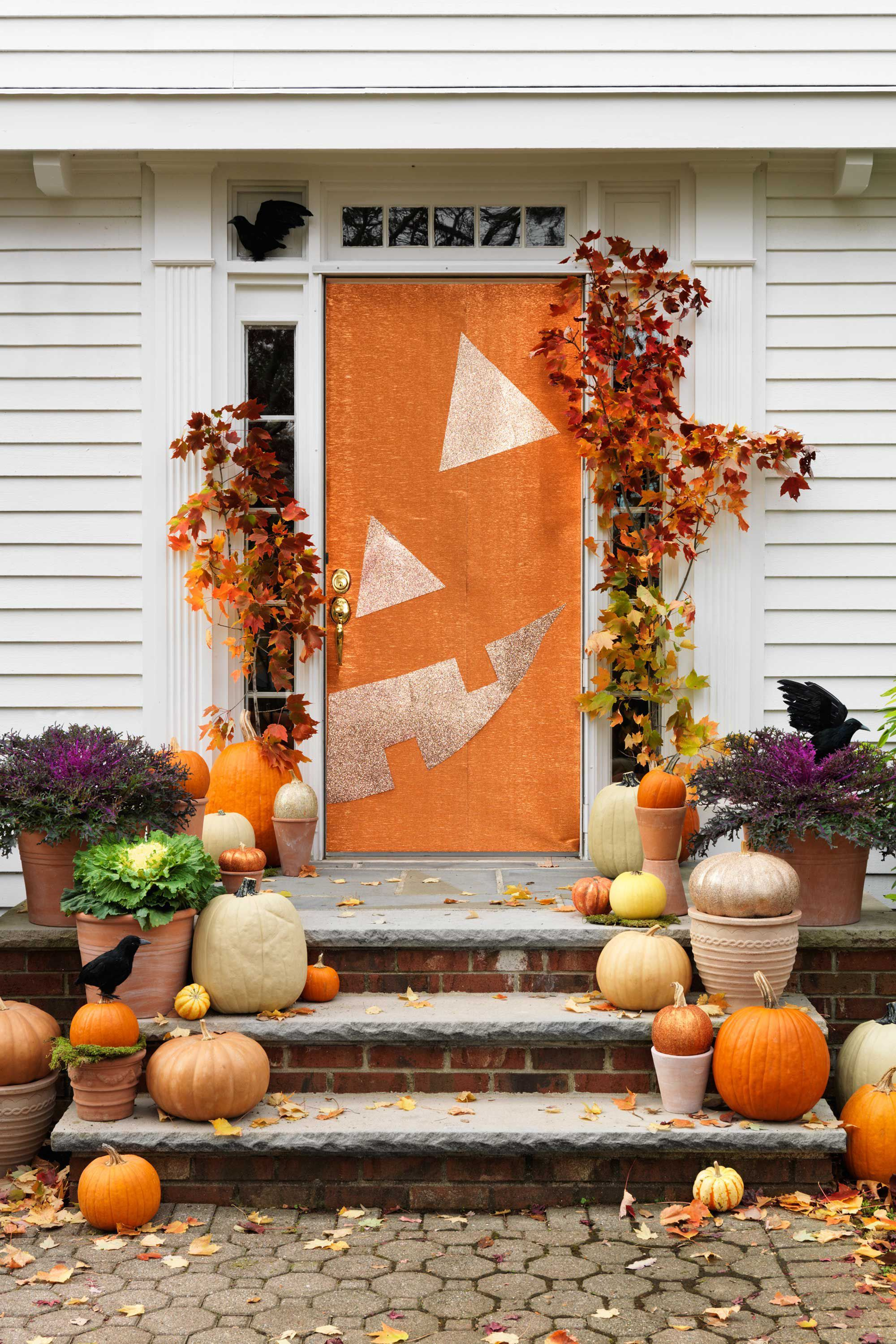halloween door decorations jack o lantern door