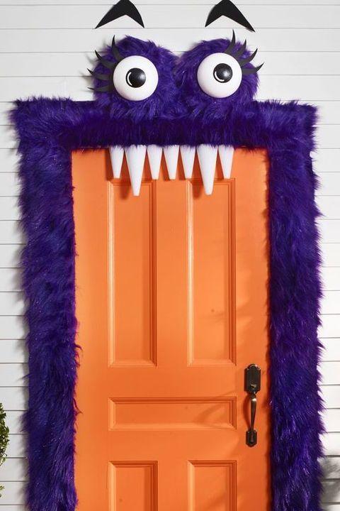 monster halloween door decorations