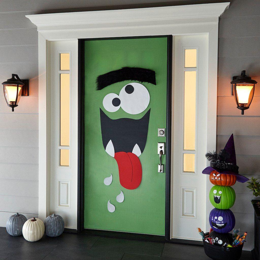 25 Best Halloween Door Decorations , DIY Front Door Covers
