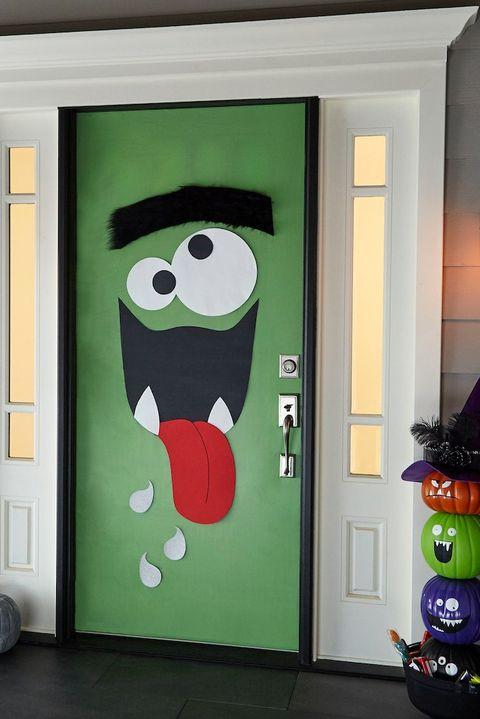 18 Homemade Halloween Door Decorations Diy Front Door Covers And