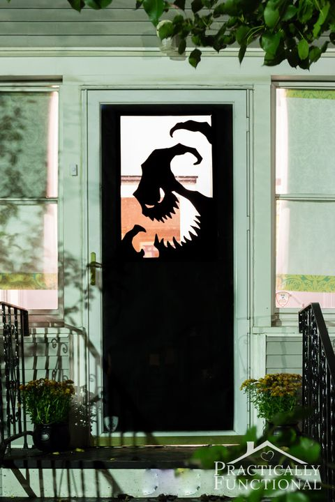 halloween door decorations oogie boogie door decal
