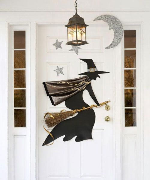 18 homemade halloween door decorations diy front door covers and decor for halloween