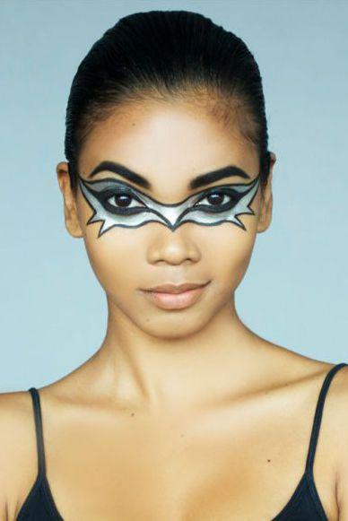 halloween face paint ideas bat mask
