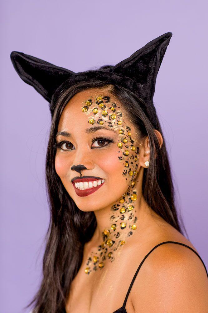 halloween face paint ideas cat makeup
