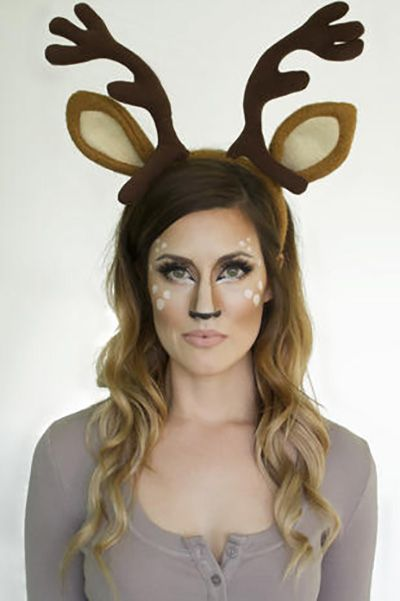 halloween face paint ideas deer makeup