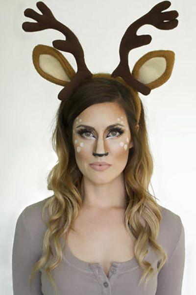 halloween face paint ideas - deer makeup