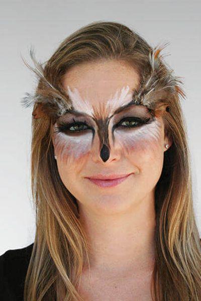 halloween face paint ideas - owl makeup