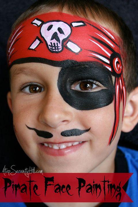 halloween face paint ideas - pirate face paint