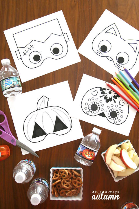 halloween family activities masks