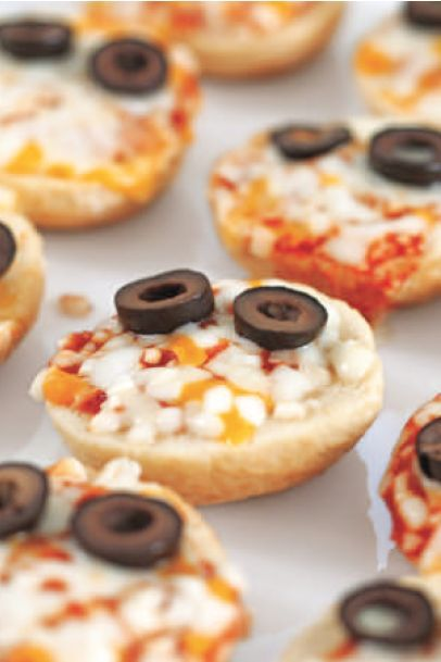 halloween appetizers monster pizza bites