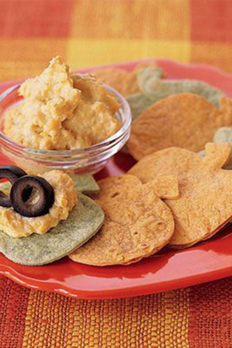 "halloween finger foods ""Pumpkin"" Tortilla Chips"