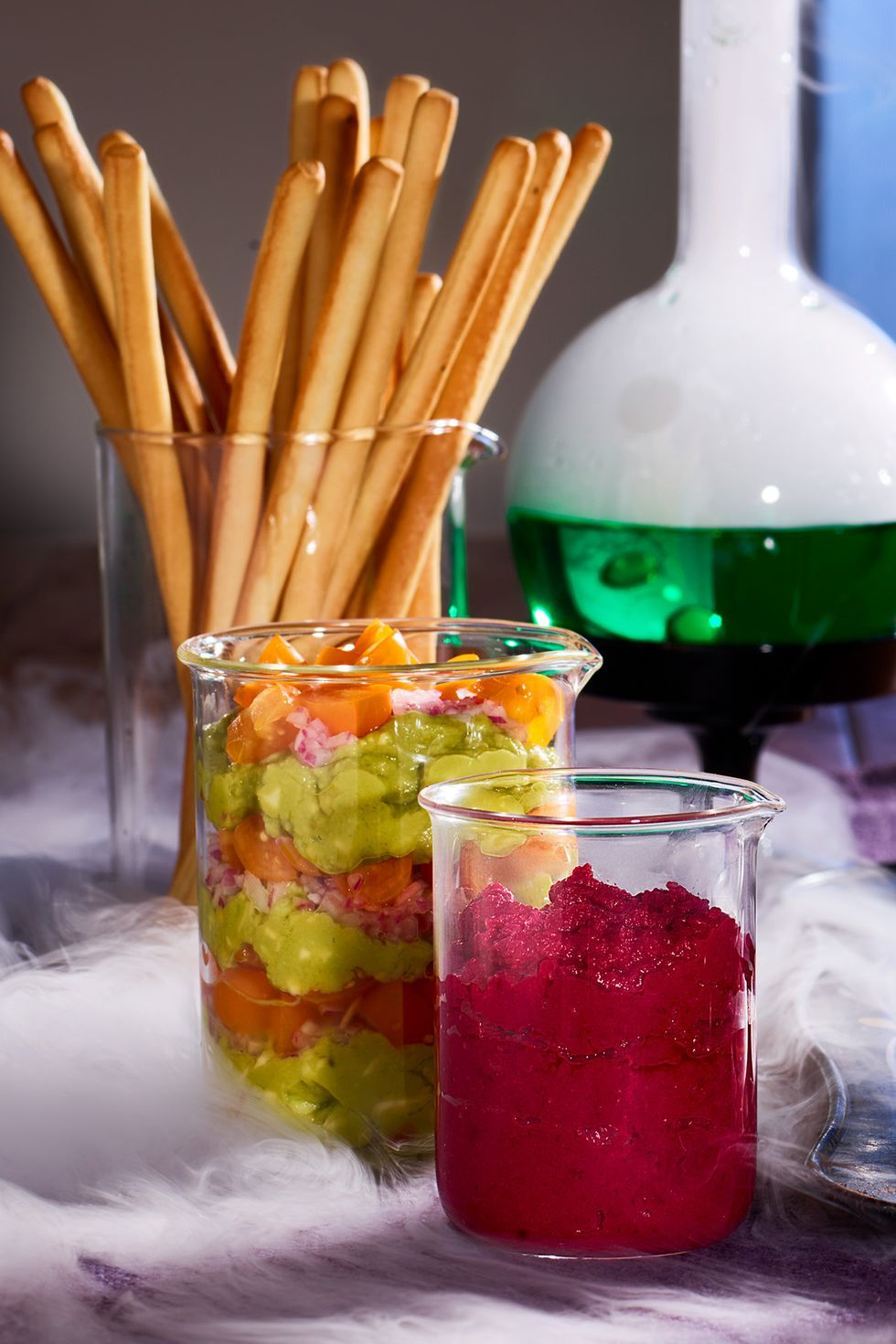 halloween finger foods test tube dips