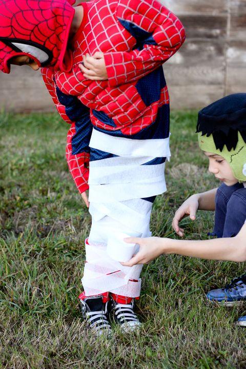mummy sack race halloween gamefor kids