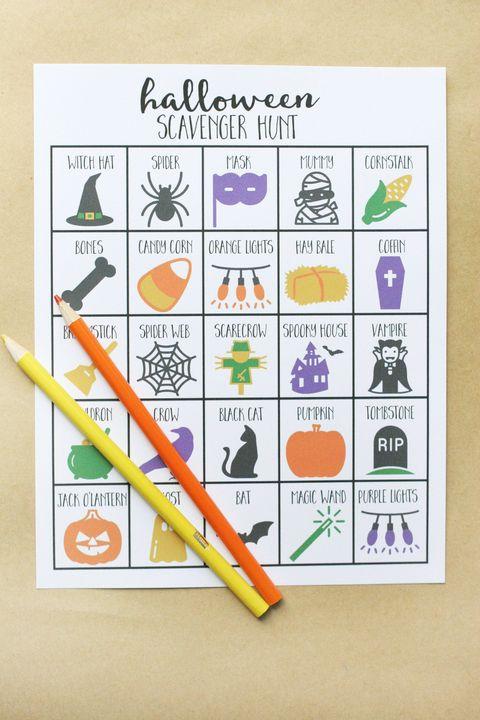 Halloween Games for Kids - Scavenger Hunt