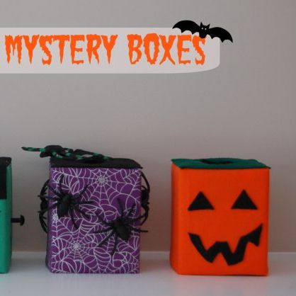 halloween games - mystery boxes