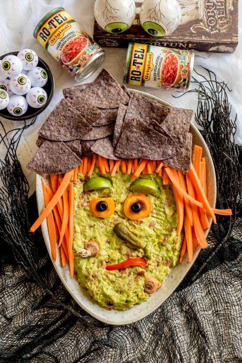 halloween guacamole appetizers