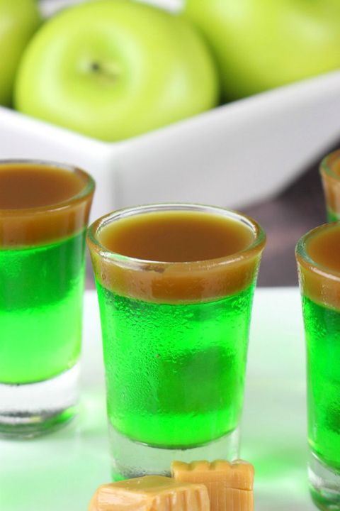 halloween jello shots caramel apple