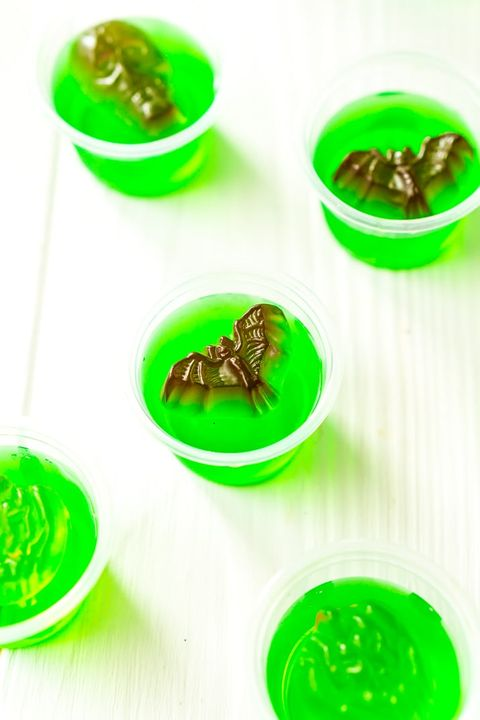 halloween jello shots green