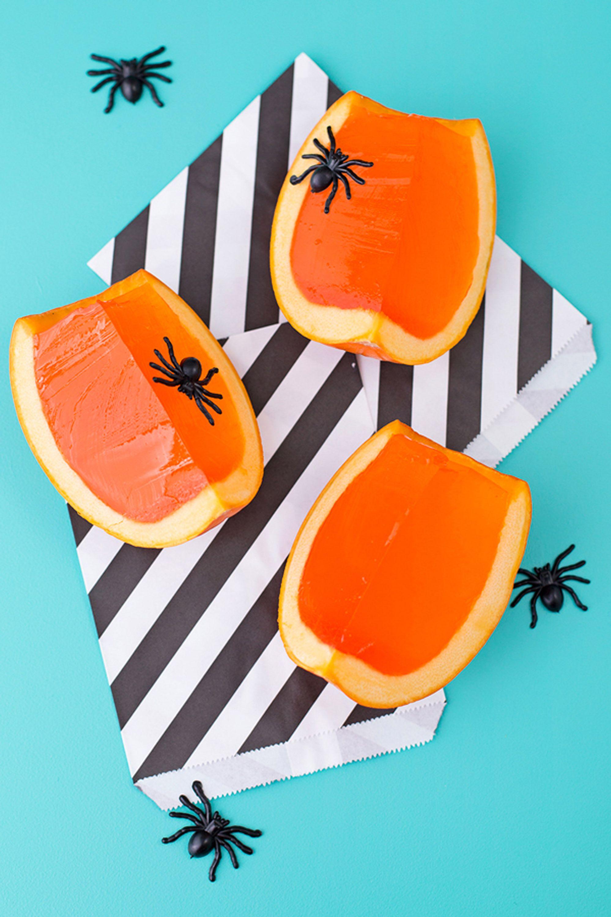 halloween jello shots pumpkin
