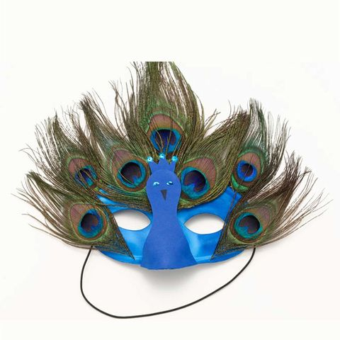halloween masks peacock mask