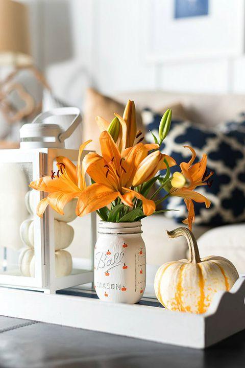 halloween mason jars flowers
