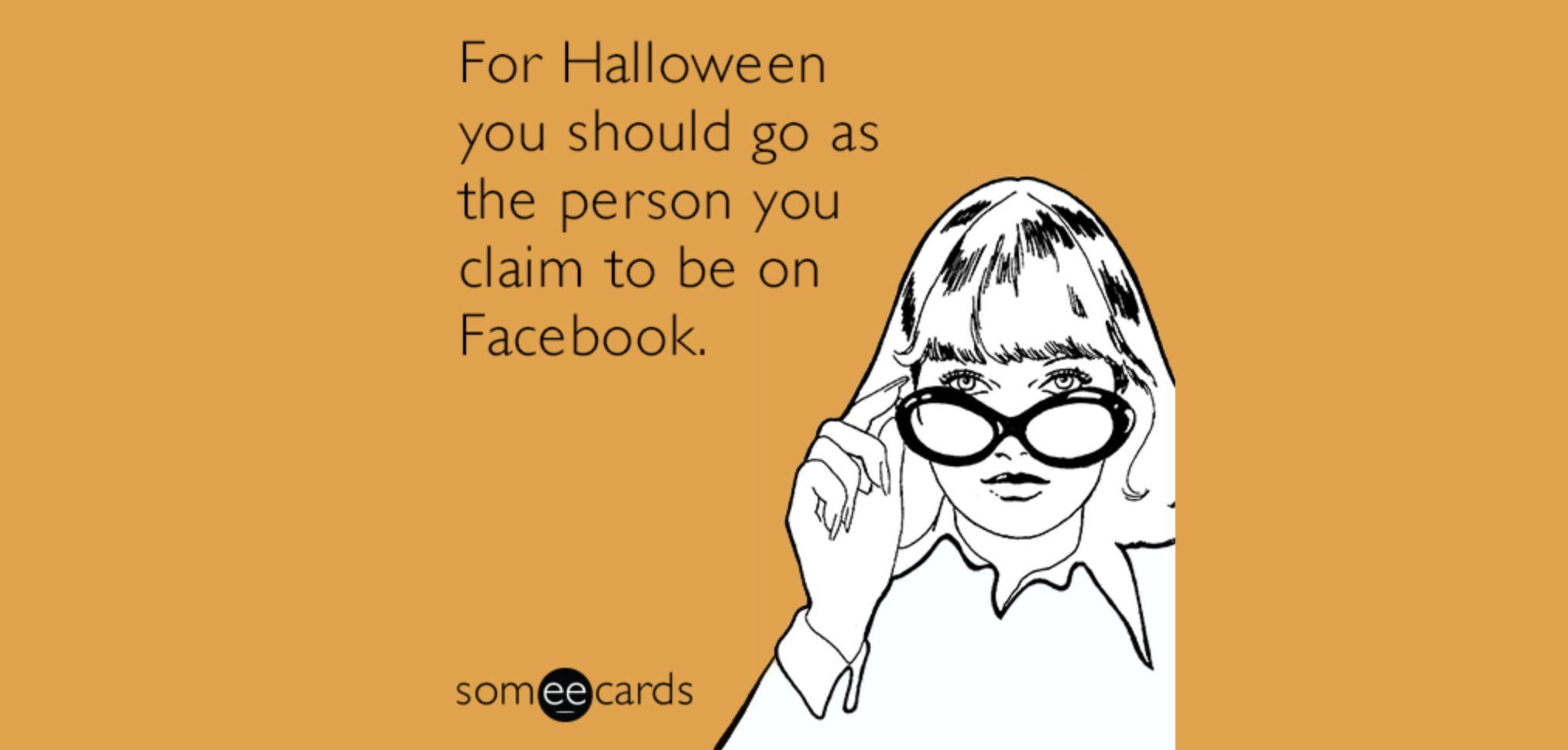 Facebook halloween meme