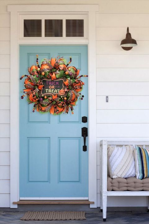 46 Diy Halloween Wreaths How To Make Halloween Door