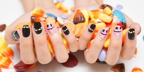 image - 42 Cute Halloween Nail Art Ideas - Best Designs For Halloween Manicure