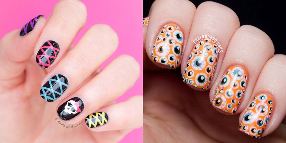 15 Halloween Nail Art Ideas , Halloween Nail Art Designs