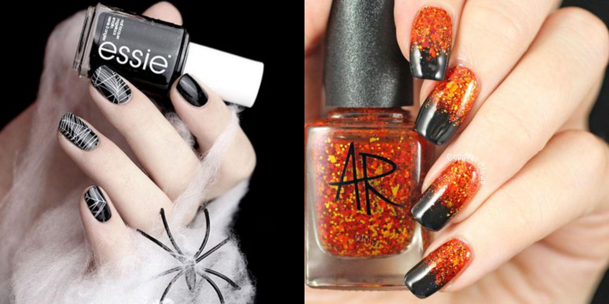 40+ Halloween Nail Art Ideas , Easy Halloween Nail Polish