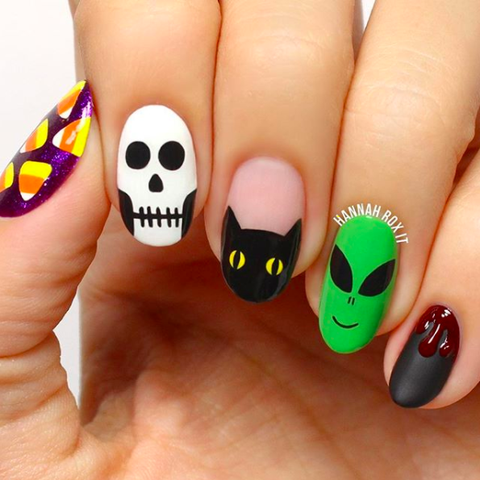 halloween nail art ideas little bit of everything
