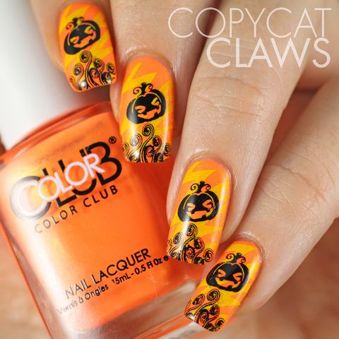 halloween nail art ideas pumpkins