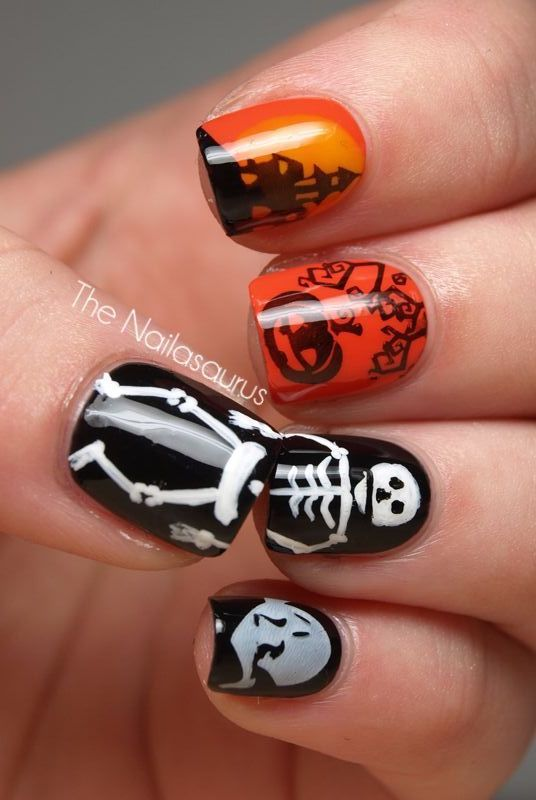 48 Halloween Nail Art Ideas 2020 Easy Halloween Nail Polish Designs