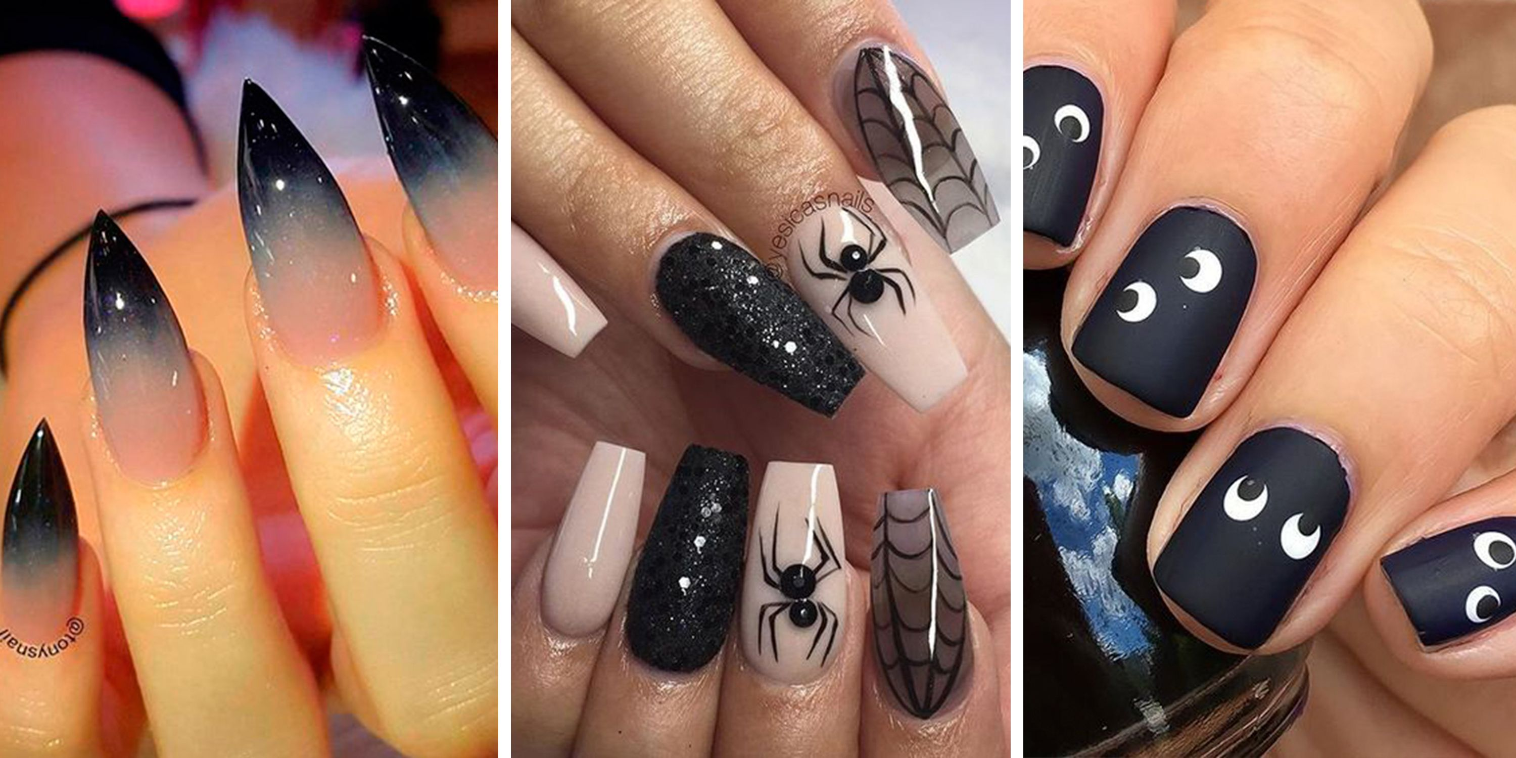 25+ Halloween nail art designs , Cool Halloween nails for 2018