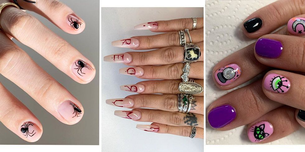20+ Halloween nail art designs - Cool Halloween nails for 2019