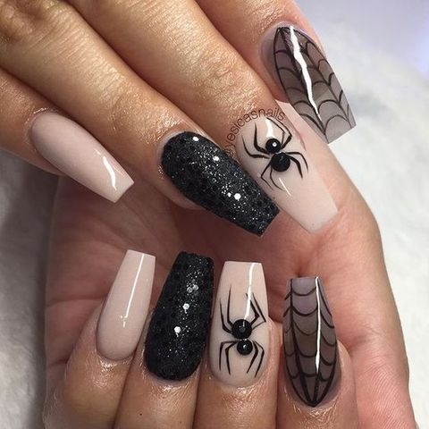 Halloween Nails - Nail Art Ideas - 25+ Halloween Nail Art Designs - Cool Halloween Nails For 2018