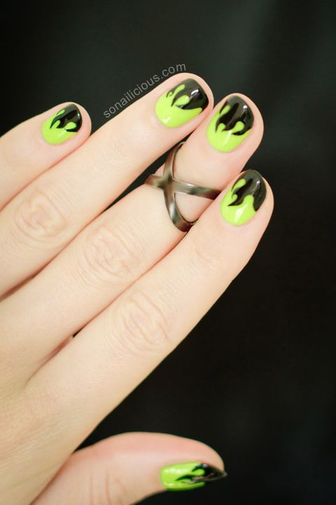 Mystical Flame Nails halloween nails - 41 Halloween Nail Art Ideas - Easy Halloween Nail Polish Designs