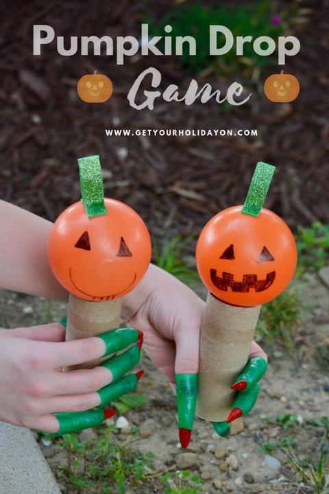 halloween party games pumpkin drop