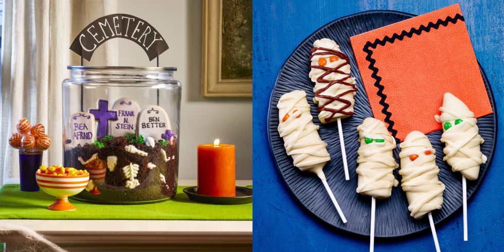 Feb 19, · Adult Halloween party doesn't have to mean scary. Create an adorable Halloween centerpiece with candy, paper bake cups, and a cake stand. Our free downloadable colorful toppers inject Halloween phrases into your decor, while a candy-decked pumpkin serves as a focal counbobsbucop.tk: Better Homes & Gardens.