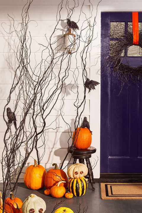 Halloween Party Ideas Branch Door Decor