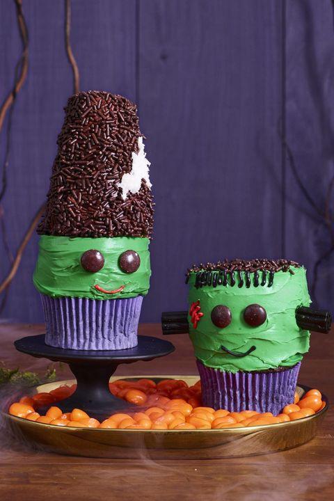 halloween party ideas frankenstein cupcakes
