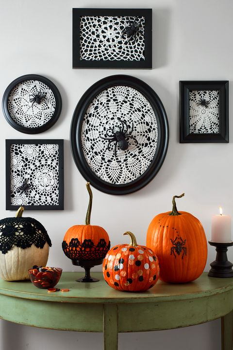 halloween party ideas lace spider web