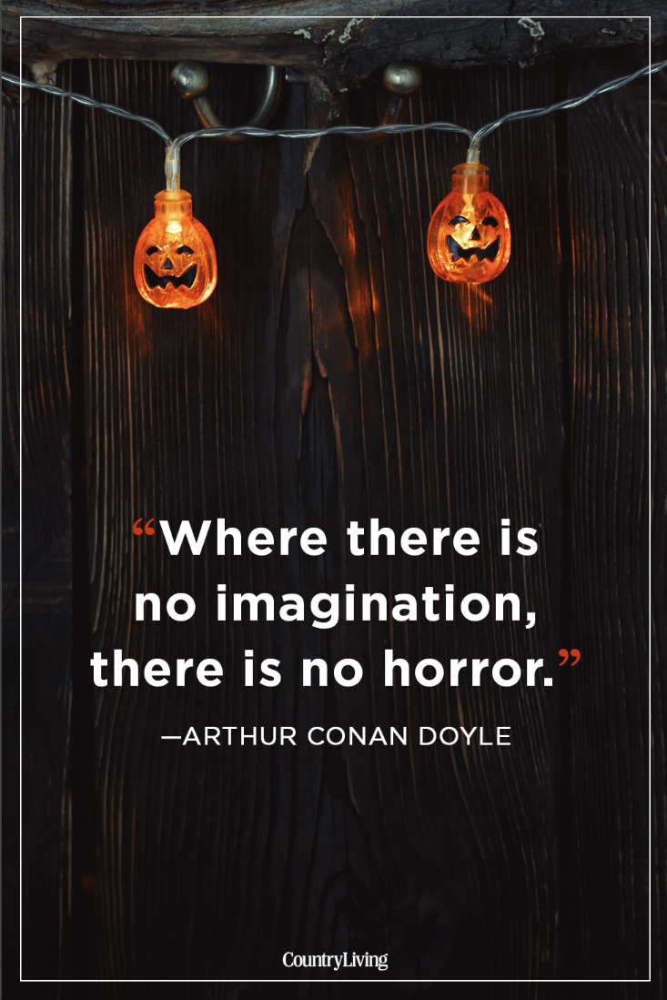 halloween quotes arthur conan doyle