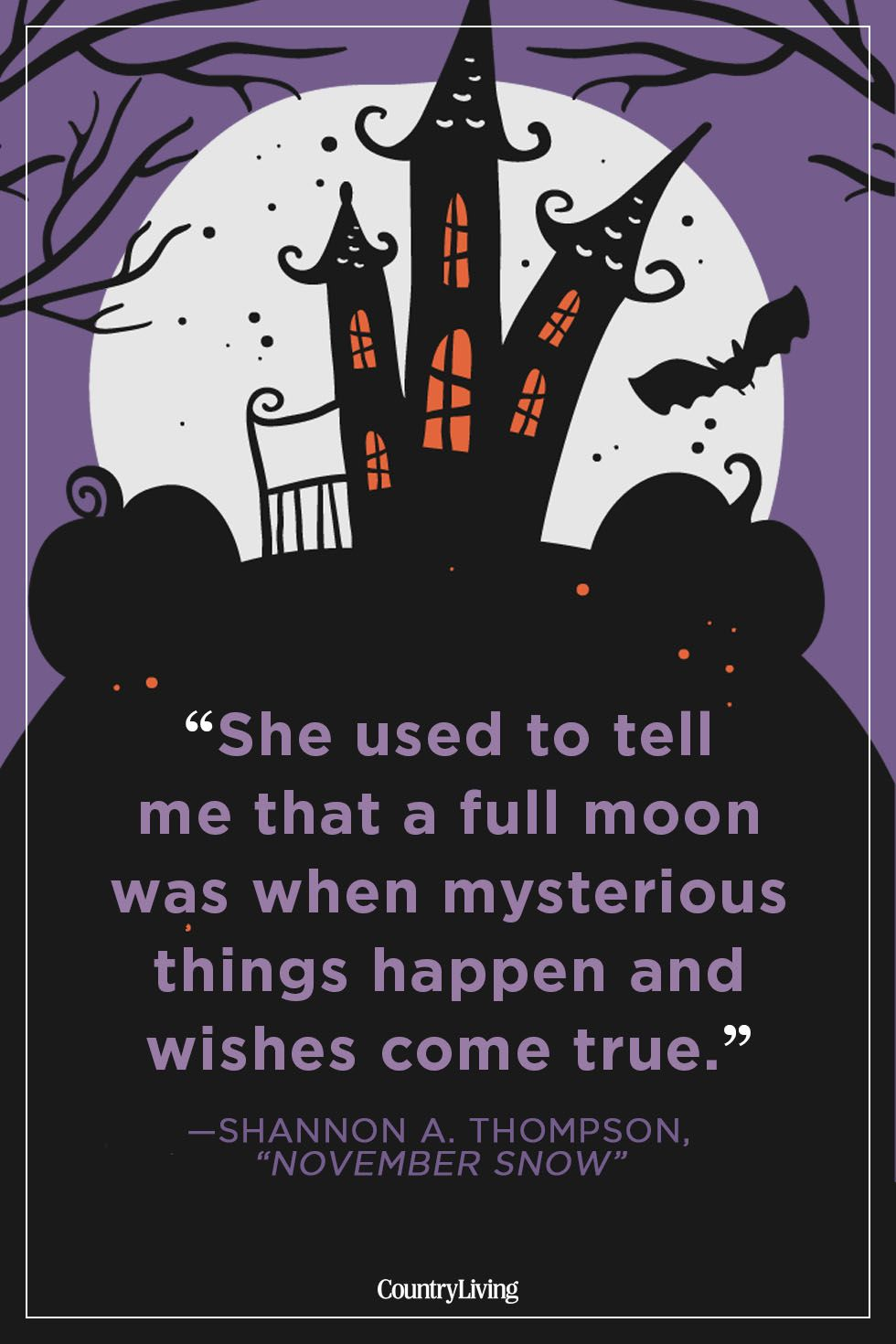 halloween quotes shannon a. thompson november snow