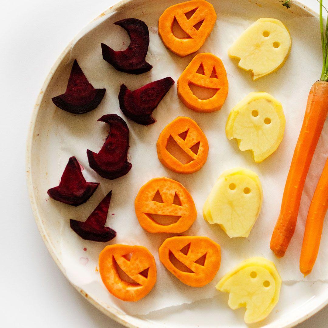 Roasted halloween vegetables live eat learn