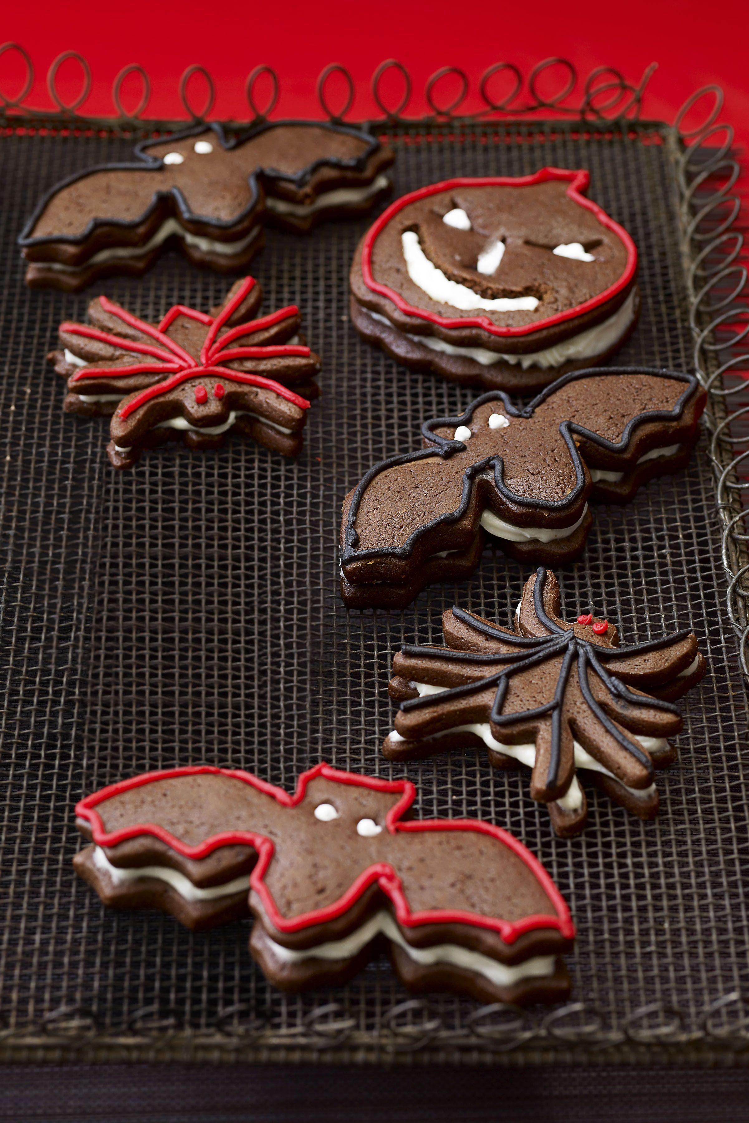 halloween cookies gingerbread sandwich