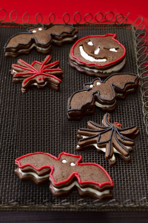 halloween cookies gingerbread sandwich